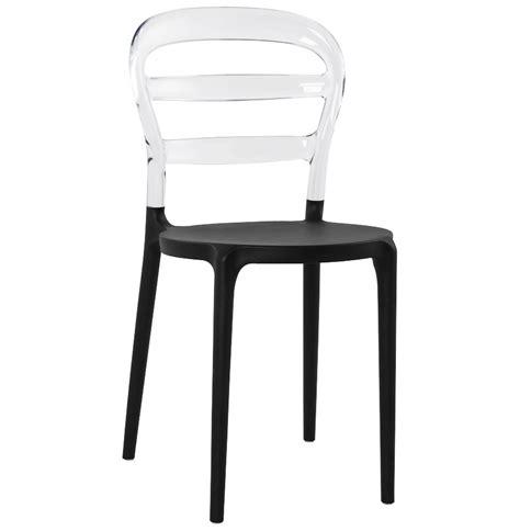 chaise design baro et transparente en polycarbonate