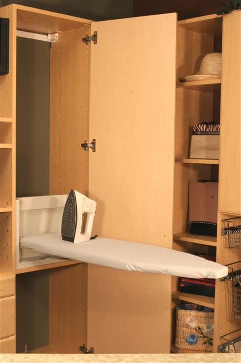ironing board in laundry or pantry room