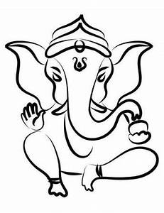 Ganesh Black And White - ClipArt Best