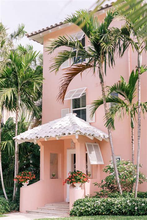 pink  palm beach color casas de ensueno casas