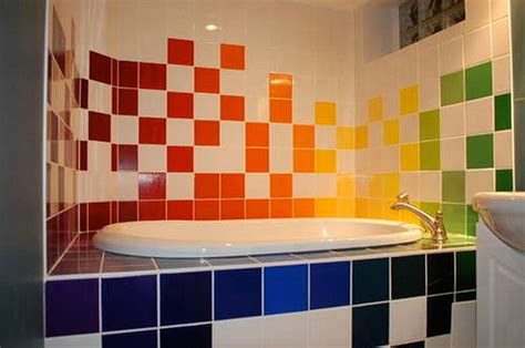 Colorful Bathrooms by Colorful Bathroom Tiles Furnishing Iroonie