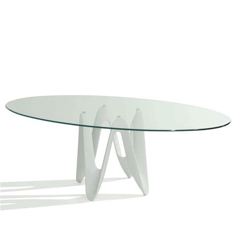 oval dining tables for lambda oval glass dining table klarity glass furniture 7250
