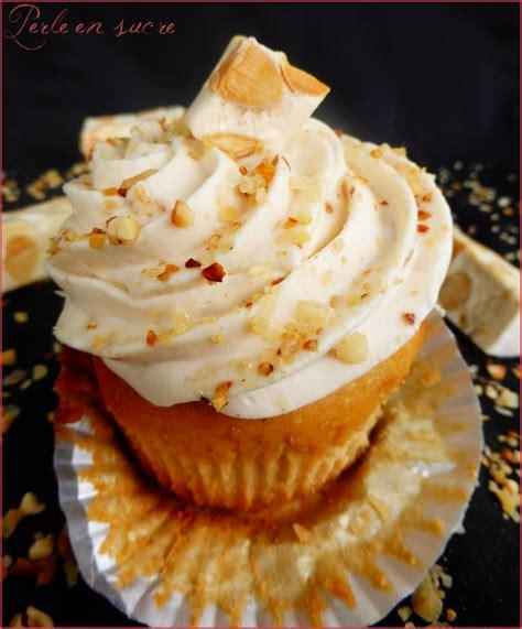 cupcakes au nougat perle en sucre