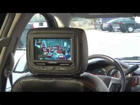 gm chevrolet gmc cadillac headrest dvd system integrated