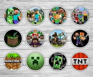 Printable Minecraft Cupcake Toppers - Minecraft Birthday ...