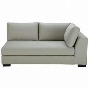 canape convertible modulable accoudoir droit en coton gris With tapis jaune avec canapé lit sans accoudoir