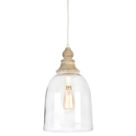 haven bell wood  glass pendant antique light temple webster