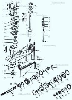 mercruiser outdrive parts drawing  sei sterndrive