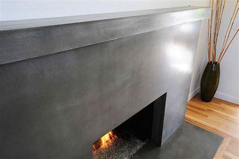MODern Concrete   INTERIOR FIREPLACE