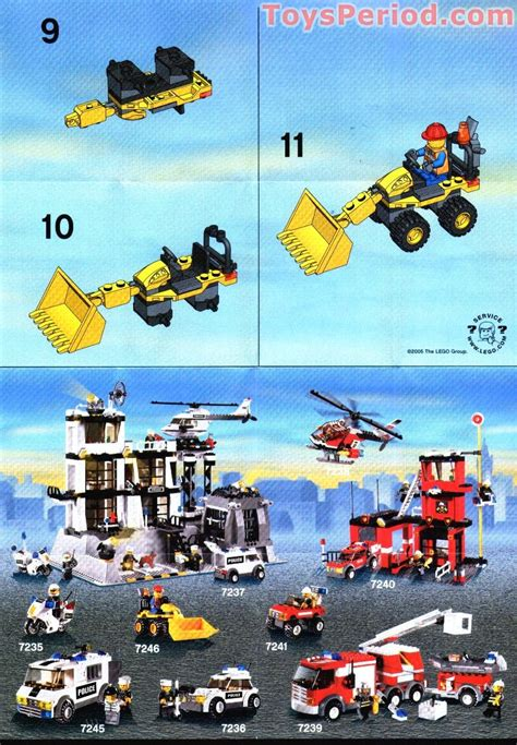lego  mini digger set parts inventory  instructions lego reference guide