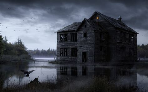 Haunted House Wallpaper Animated - animated haunted house desktop wallpaper wallpapersafari