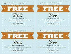 Free Drink Coupon Template Free Food Coupon Template Marketing Archive