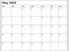 January 2029 Blank Monthly Calendar