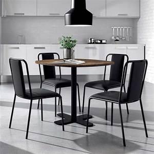 Table Ronde Cuisine : table ronde pour cuisine en stratifi avec pied central spinner 4 ~ Teatrodelosmanantiales.com Idées de Décoration
