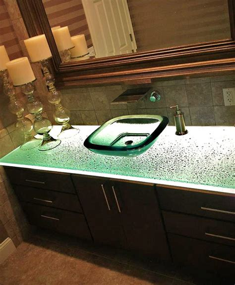 glass countertops for kitchens bathroom vanities and bar