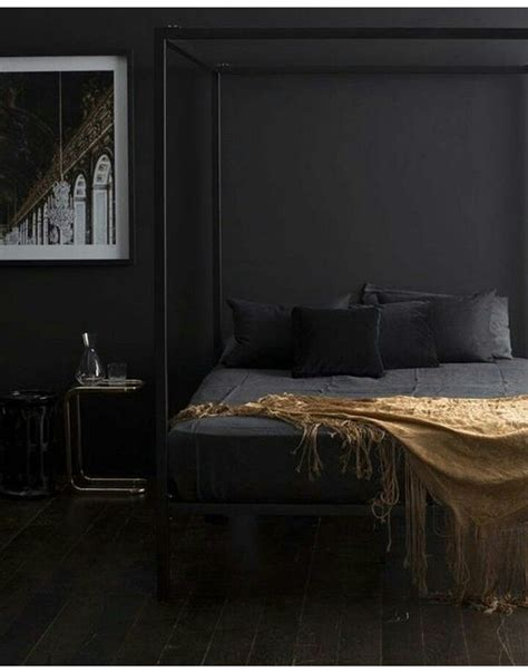 black bedroom styling black rooms black walls home