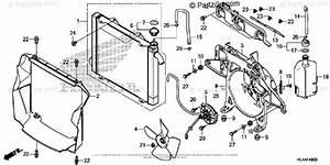 Honda Side By Side 2017 Oem Parts Diagram For Radiator