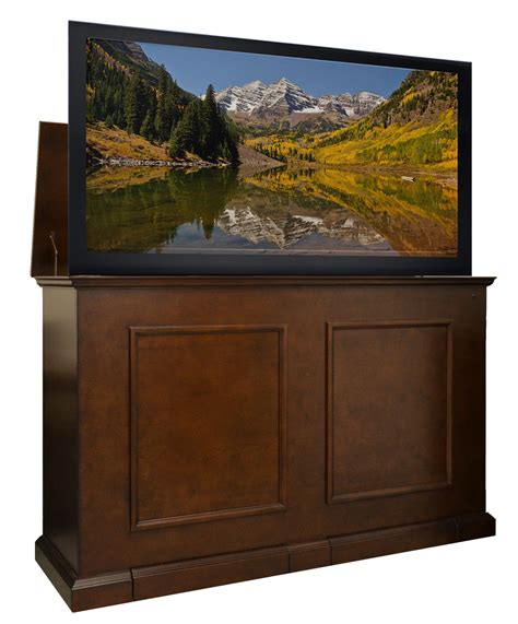 tv lift cabinet grand elevate espresso tv lift cabinet for flat panel tvs