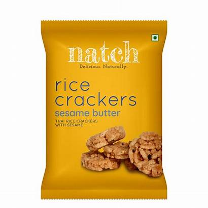 Crackers Rice Sticky Thai Sesame Snacks Cracker