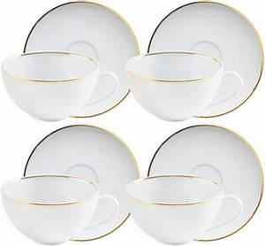 Kahla Geschirr Bunt : kahla cappuccino tee tassen set porzellan 8 teilig line of gold online kaufen otto ~ Watch28wear.com Haus und Dekorationen