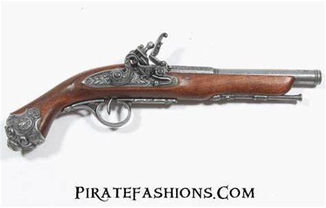 replica  firing pirate flintlock pistols large