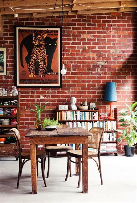 batu bata desain interior modern  klasik