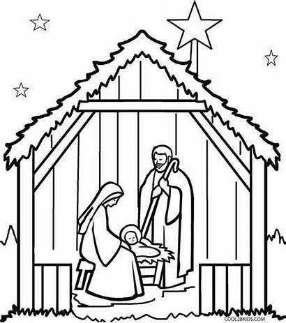 Nativity Scene Coloring Pages Outdoor Printable Cool2bkids