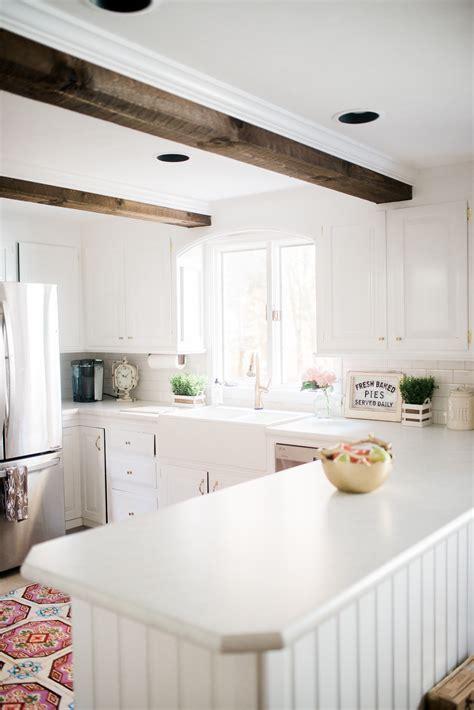 white kitchen makeovers farmhouse kitchen makeover 1046