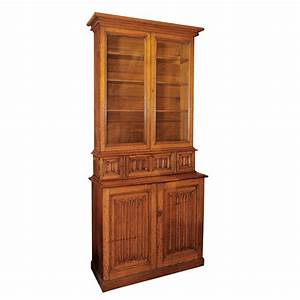 Victorian, Oak, Step, Back, Library, Bookcase, At, 1stdibs