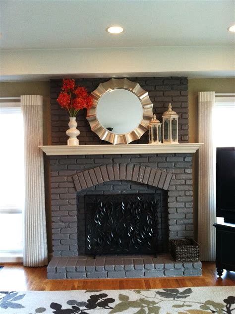 painted fireplace painted fireplace not white it looks good what was old is new again pinterest