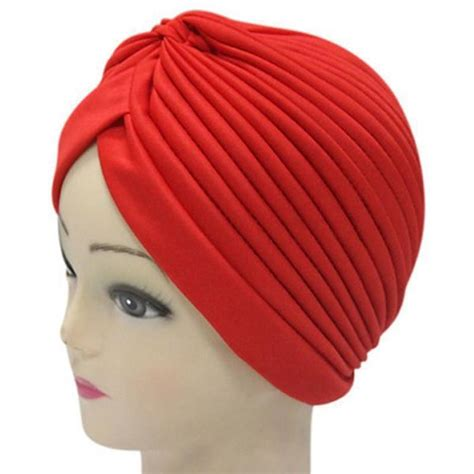india caps retro headband hijab turban dual purpose solid
