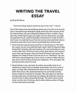 Computer Science Essay Essay On Travel Writing Paper Example For Descriptive Essay Business Studies Essays also Argumentative Essay Thesis Essay On Travel Assignment Project Management Essay On Trip  Thesis Essay Example
