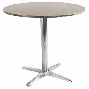 Table Ronde Aluminium : table ronde exterieur aluminium meuble de salon contemporain ~ Teatrodelosmanantiales.com Idées de Décoration