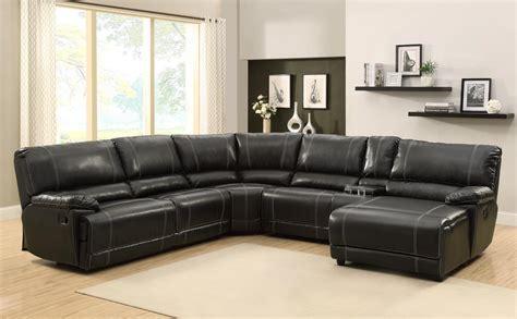 Homelegance Cale Sectional Sofa Set  Black Bonded