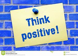 Think Positive Sign Royalty Free Stock Photo - Image: 18972815