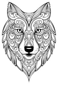 animals coloring pages  adults page