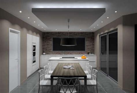 spots led cuisine faux plafond faux plafond
