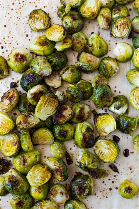 balsamic sprouts roasted brussels vinegar crispy baking sheet favorite