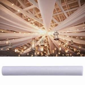 Tenture Mariage Pas Cher : tenture mariage en tulle blanc 80cm decoration mariage badaboum ~ Nature-et-papiers.com Idées de Décoration