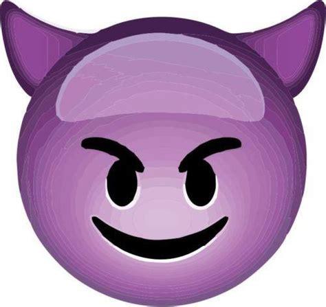 emoji emoticons devil face purple giant vinyl wall  car
