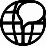 Language Icon International Earth Planet Svg Internet