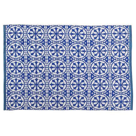 Pvc Boden Blau Weiß by Outdoor Teppich Santorini Aus Pvc 160 X 230 Cm Blau Wei 223