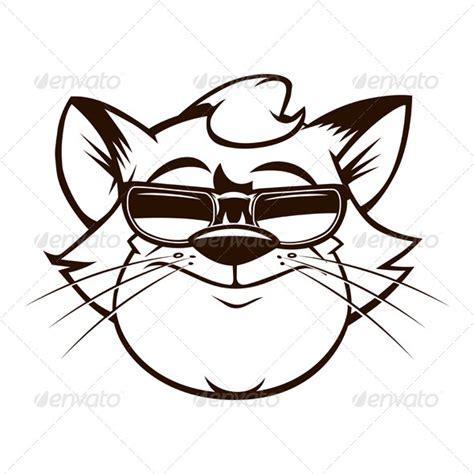 cartoon fat cat face  sunglasses graphicriver
