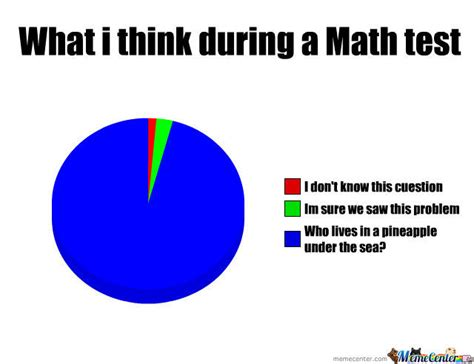 Math Test Meme - what i think during a math test by rayosbute meme center