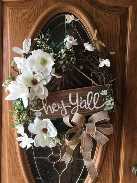 This Is A Beautiful Wreath For Spring And Summer It Is