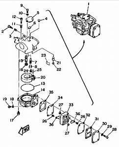 1987 Yamaha Carburetor Parts For 8 Hp 8sh Outboard Motor