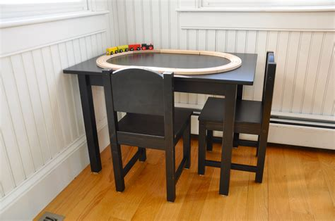 Piece Black Wood Toddler Kitchen Table For