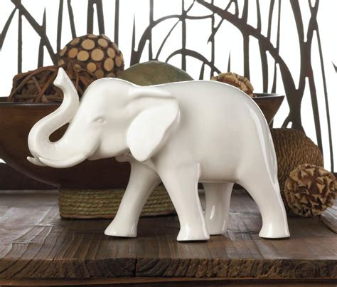 elephant home decor sleek white elephant figurine wholesale at koehler home decor