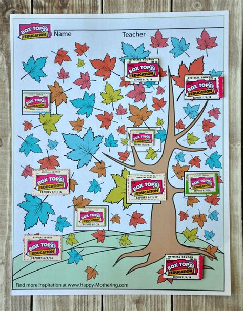 box tops for education collection sheet happy mothering