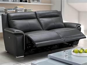 Vente Privée Canapé : canap et fauteuil relax lectrique en cuir 2 coloris paosa ~ Teatrodelosmanantiales.com Idées de Décoration